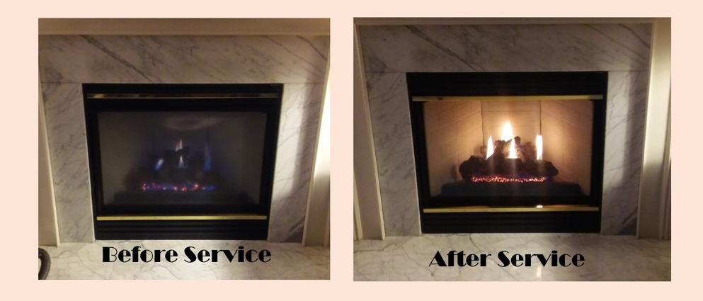 We provide quality gas fireplace service