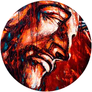 religious paintings jesus art Diana Francia - modern art, 325 x 311 px