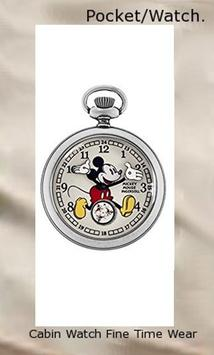 Ingersoll Mickey Mouse Men's IND 25834 Ingersoll Disney Mickey 30s Mechanical Pocket Analog Display Mechanical Hand Wind Silver Watch