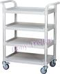 4 tier shelving medical carts, 4-tier hospital trolley manufacturer Taiwan