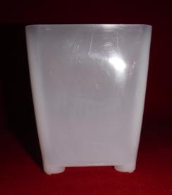 clear plastic orchid pot 3.25 inch square slots small extra drainage air circulation no color