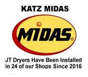 JT Katz Midas - Dryers installed in 24 Katz Midas Shops since 2016