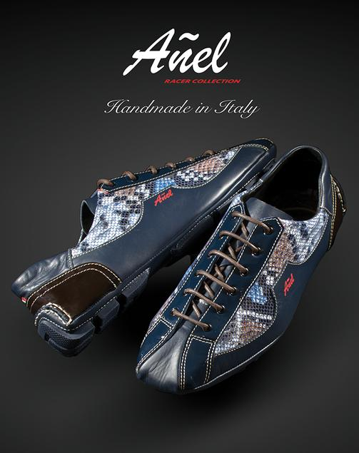 The Anel Racer is a shoe designed with a modern aerodynamic look.