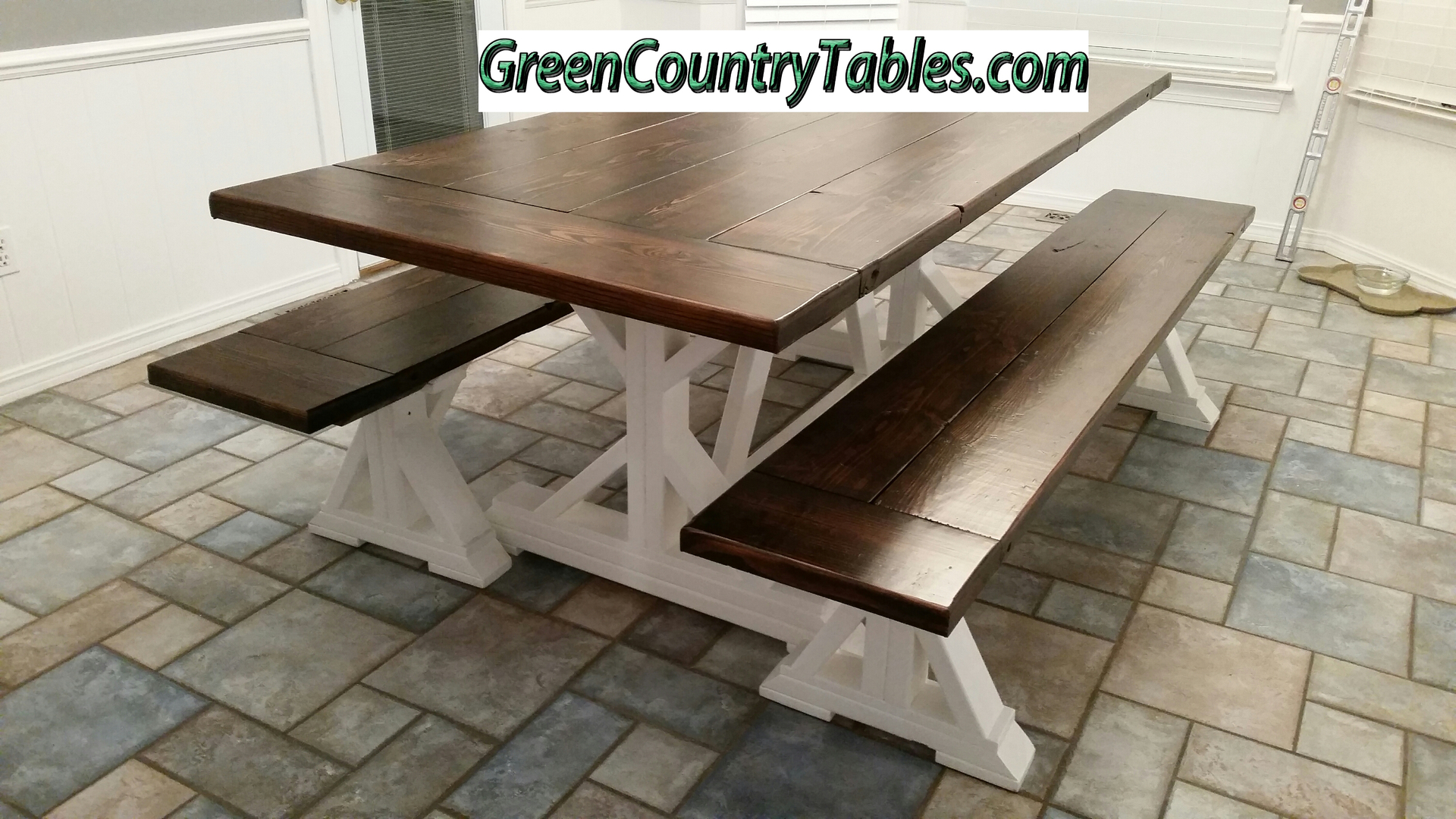 long rustic farm reclaimed dining house wood style foot table farmhouse handcrafted