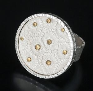 Carol Holaday - Flores del Mar ring - sterling silver and 18k