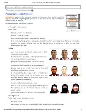 Algeria Passport A Visa Photos Printed And Guaranteed Accepted From Passport Photo Now
