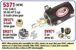 AR5371 Starter for Johnson and Evinrude outboard motor