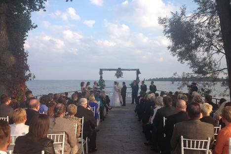 Wedding DJ ceremony dock