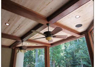 Prefinished Pecky Cypress T&G Ceiling