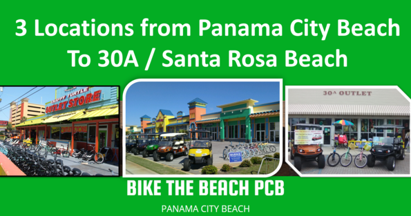 Bike The Beach PCB - Panama City Beach Bicycle and Golf Cart Rental Locations
