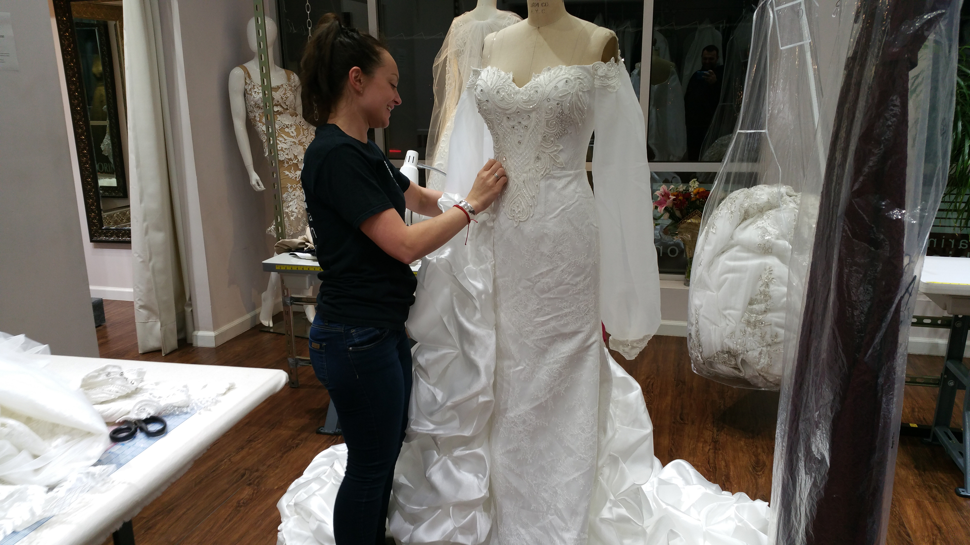 Bridal dress alterations prom alterations wedding dress design need a seamstress we are bridal alterations experts we specialize in wedding dress alterations and custom wedding dress design junglespirit Gallery