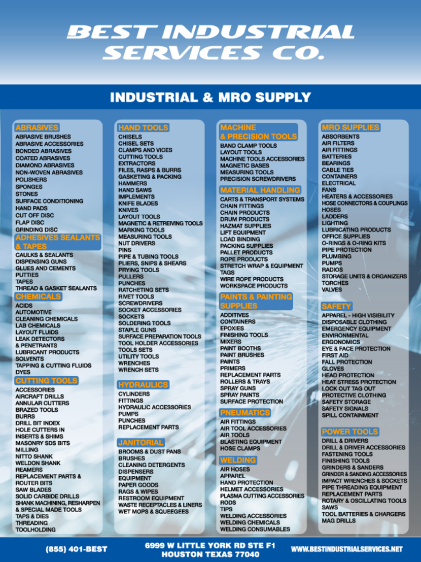 About Best Industrial Supply Co Houston Tx