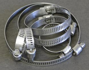 Gear-Drive Hose Clamps