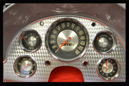 1957 Ford Thunderbird Gauge Cluster Repair