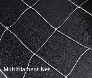 closeup of multifilament netting