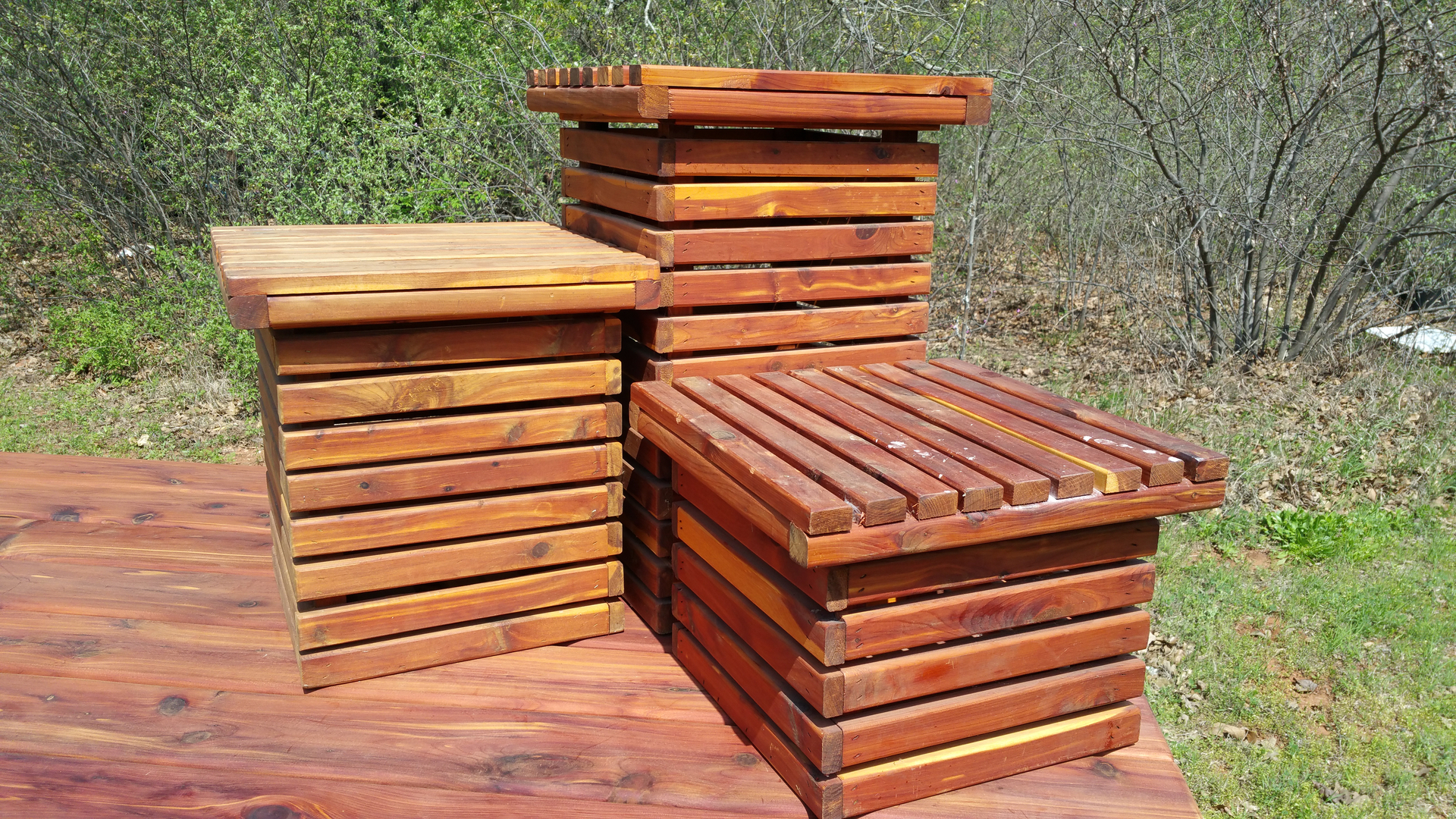 Darrel S Wood N Works Outdoor Furniture Red Cedar Furniture