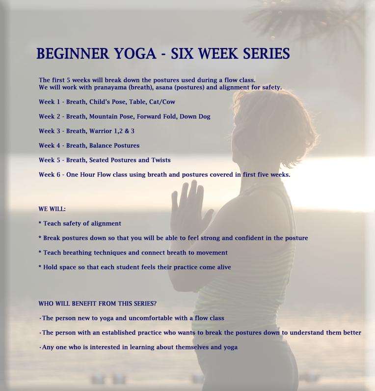 Beginner Yoga - Six Week Series