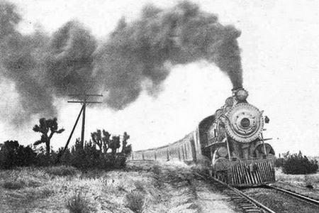The Los Angeles Limited on its first run in 1905.
