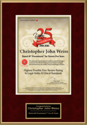 Christopher John Weiss - 25 years