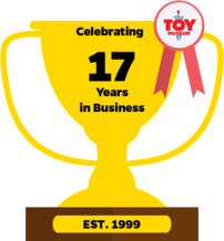 Illustration of a trophy indicating the Museum's 17 years in business
