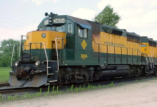 Housatonic Railroad EMD GP35 No. 3604 at Canaan, Connecticut in 2004.