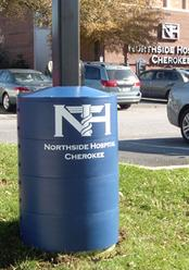 Graphic logos can be added to any light pole base cover.