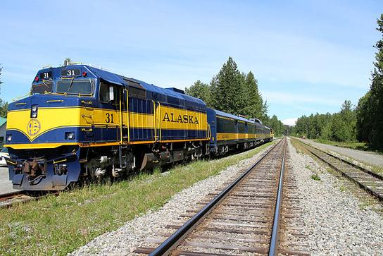 Hurricane Turn Train at Talkeetna, Alaska in June 2015.