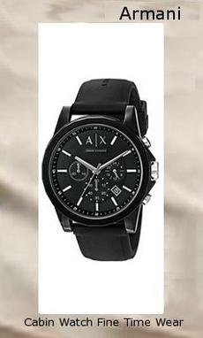 "Armani Exchange Men's AX1326 Black Silicone Watch Hardside/Hard Plastic/Silicone 5.91"" high 5.91"" wide All-black watch featuring round dial with 60-second outer dial, date window, and ribbed texture at minute track and subdials 44 mm resin case with mineral dial window Quartz movement with analog display Silicone band with buckle closure Water resistant to 50 m (165 ft): In general, suitable for short periods of recreational swimming, but not diving or snorkeling,armani"