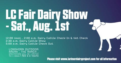 Larimer County Fair Dairy Show