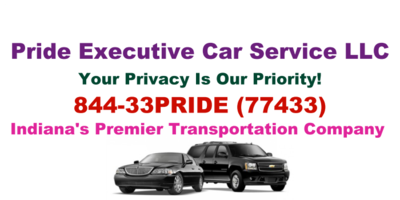 Pride Executive Car Service Reservations page contact info image