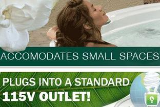 Inexpensive, dependable Garden Spas. Is A completely portable line of 110v Plug-and-Play spas. No electrician needed!