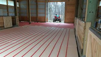 Pole barn radiant heat, Indiana Warm Floors