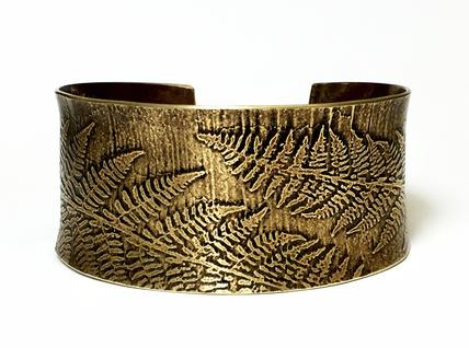 Carol Holaday - Fern Cuff - Etched brass
