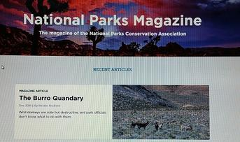 National park magazine