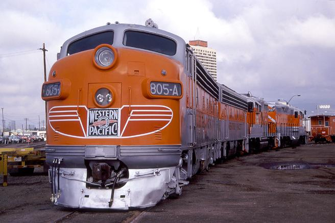 WP FP7 805-A from the Western Pacific Railroad Museum.