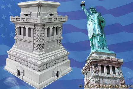 Visions In Brick Statue Of Liberty Pedestal
