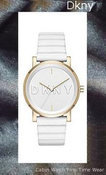 Product specifications Watch Information Brand, Seller, or Collection Name DKNY Model number NY2632 Part Number NY2632 Item Shape Round Dial window material type Mineral Display Type Analog Clasp Buckle Case material Stainless steel Case diameter 34 millimeters Case Thickness 9 millimeters Band Material leather calfskin Band length Women's Standard Band width 17 millimeters Band Color White Dial color White Bezel material Stainless steel Bezel function Stationary Special features Water Resistant Movement Japanese quartz Water resistant depth 165 Feet