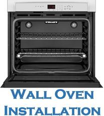 Wall oven installation