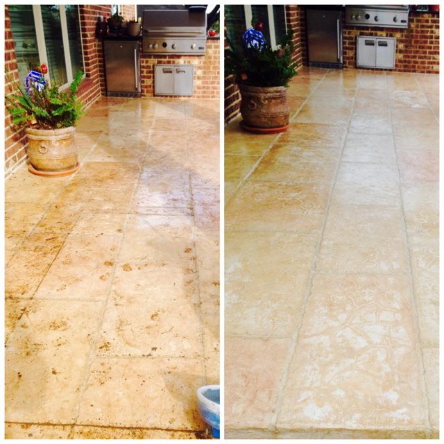 before and after picture of tile and grout cleaning service in New Braunfels TX 78130 78666
