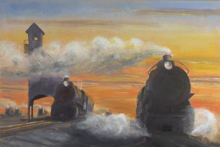 steam locomotive painting