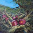 A Tangled Bouquet of Cactus original oil by Lindy C Severns