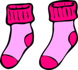 Pink Socks Pixabay vector graphic