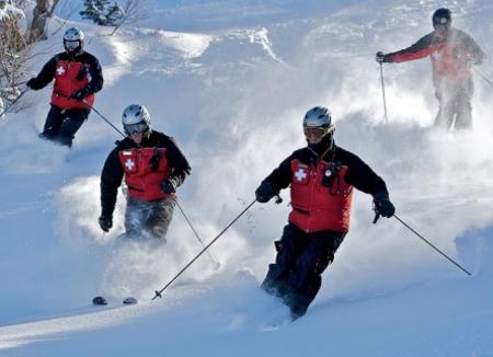 Ski Patrol In Action