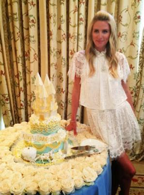 Nicky Hilton Castle Cake Whip Cream Hansen's Cakes Los Angeles