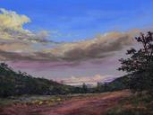 The High Road, pastel landscape by Lindy C Severns