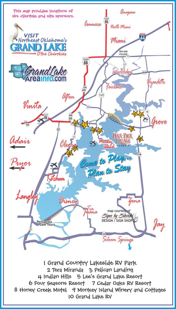 Accommodations grand lake ok cabins rv parks motels event for Grand lake oklahoma cabin rentals