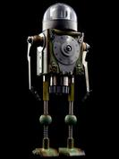 Krypton retro robot sculpture art