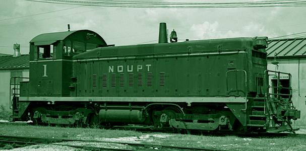 An EMD SW8 switching locomotive used on the NOUPT.