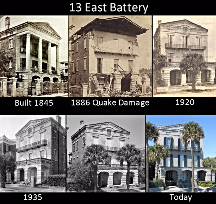 Battery in Charleston bus tour