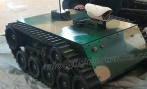 tank robot (model model PLDPL-100 ) with camera can take photos for inspection and patrol in power and nuclear station, and can climb up stairs.